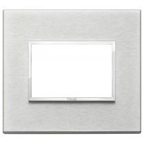 Placca Vimar Eikon Evo Alluminio Grigio Next  3 moduli codice 21653.02