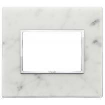 Placca Vimar Eikon Evo Pietra Bianco di Carrara 3 moduli 21653.51