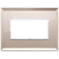 Placca Vimar Eikon Evo Cristallo Specchio Bronzato 4 moduli 21654.75