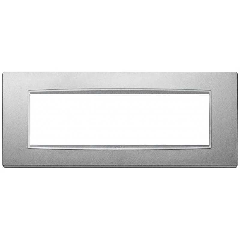 Placca Vimar Eikon Classic 7 Moduli argento matt codice 20657.N13