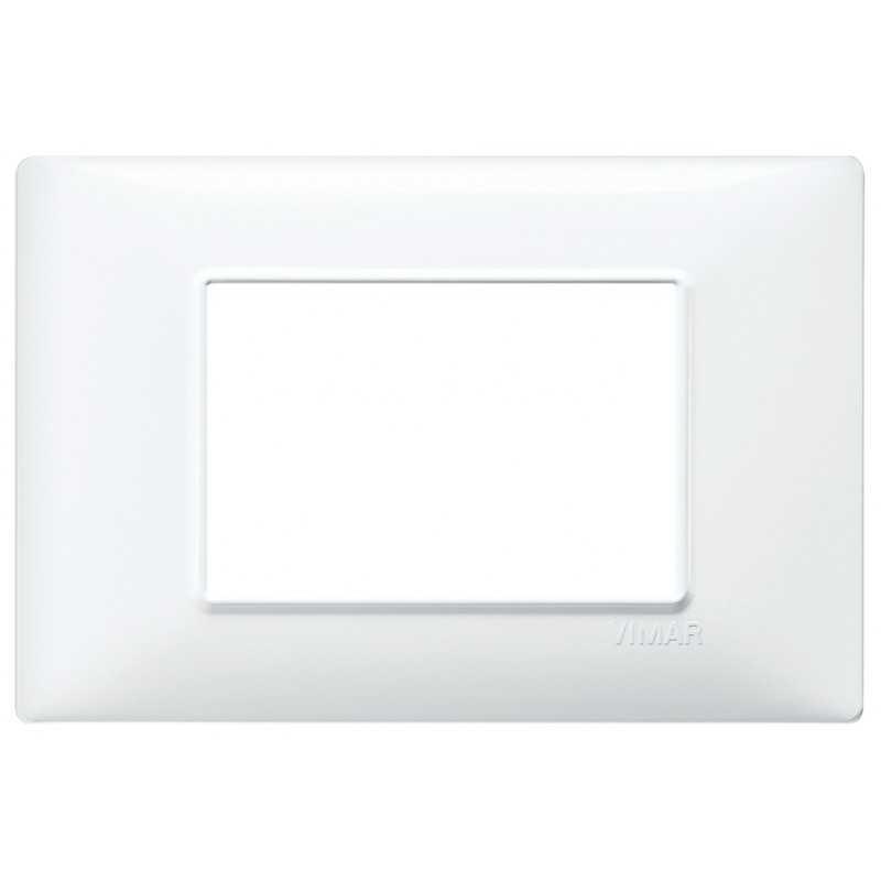 Placca Vimar Plana 3 moduli bianco in tecnopolimero  codice 14653.01