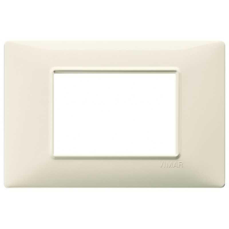 Placca Vimar Plana 3 moduli beige in tecnopolimero codice 14653.03