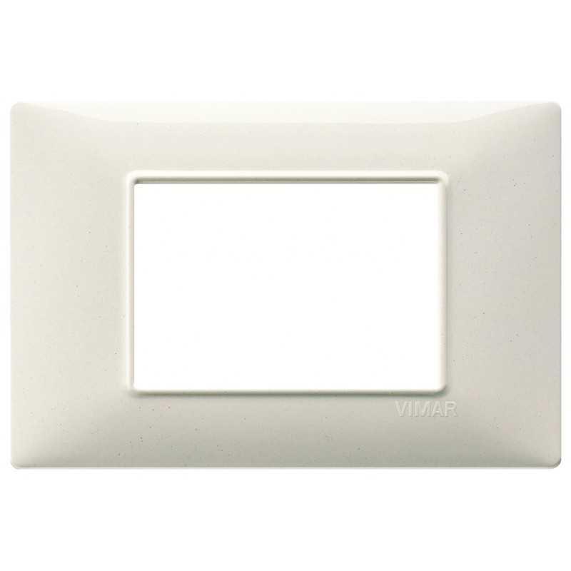 Placca Vimar Plana 3 moduli bianco granito in tecnopolimero 14653.06
