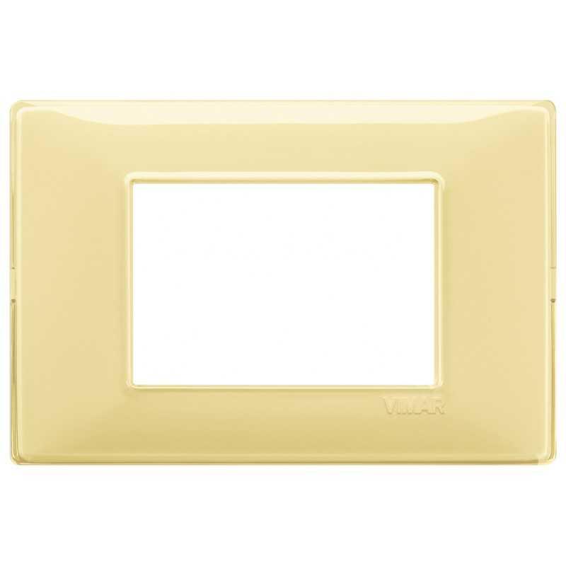 Placca Vimar Plana 3 moduli Reflex cedro in tecnopolimero 14653.46