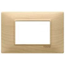 Placca Vimar Plana 3 moduli legno acero codice articolo 14653.61