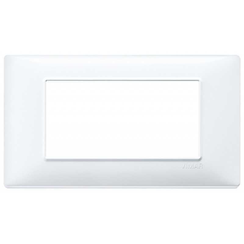 Placca Vimar Plana 4 moduli colore bianco in tecnopolimeto 14654.01