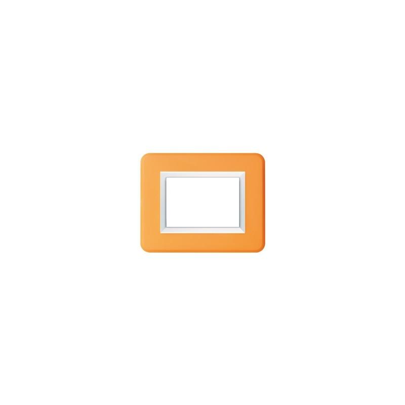 Placca AVE Personal Arancione brillante 3 moduli 44P03AB