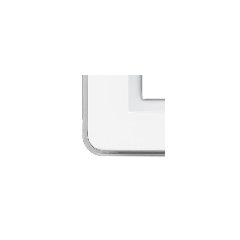 Placca AVE Personal Bianco lucido RAL 9010 4 moduli  44P04B