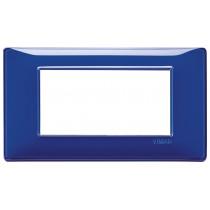 Placca Vimar Plana 4 moduli Reflex zaffiro tecnopolimero 14654.50