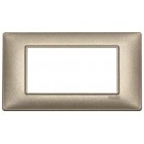 Placca 4 moduli bronzo metallizzato Vimar Plana 14654.70