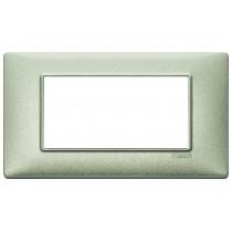 Placca Vimar Plana 4 moduli verde metallizzato  14654.72