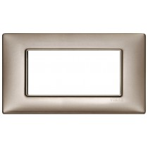 Placca Vimar Plana 4 moduli nichel perlato metallo 14654.74