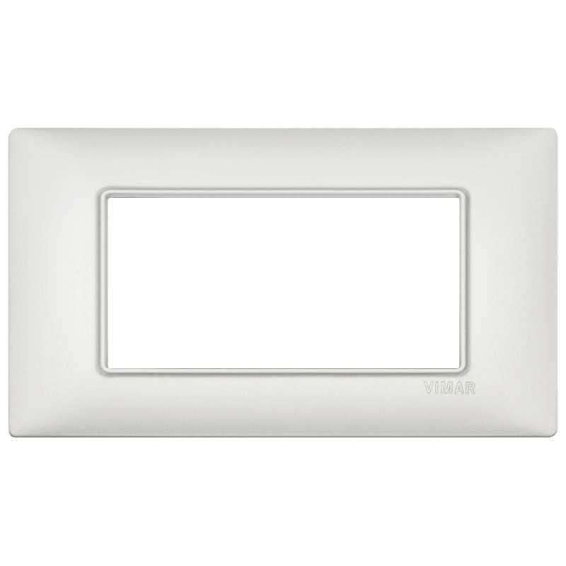Vimar Plana Placca 4 moduli argento perlato metallo 14654.75.01