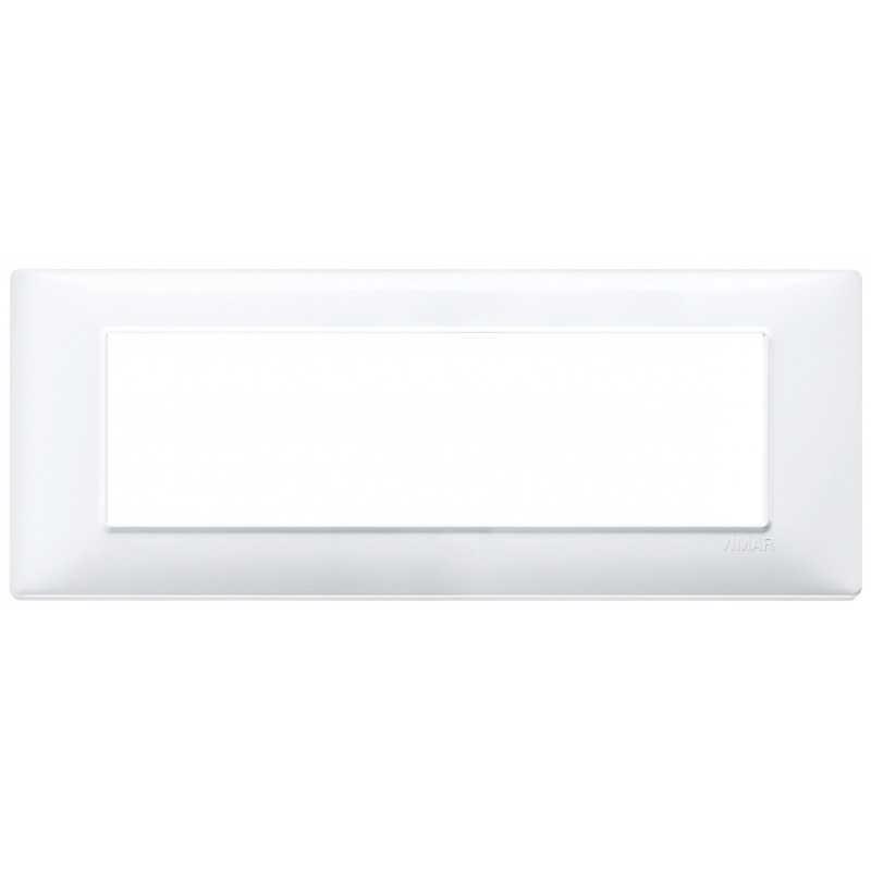 Placca Vimar Plana 7 moduli bianco in tecnopolimero 14657.01