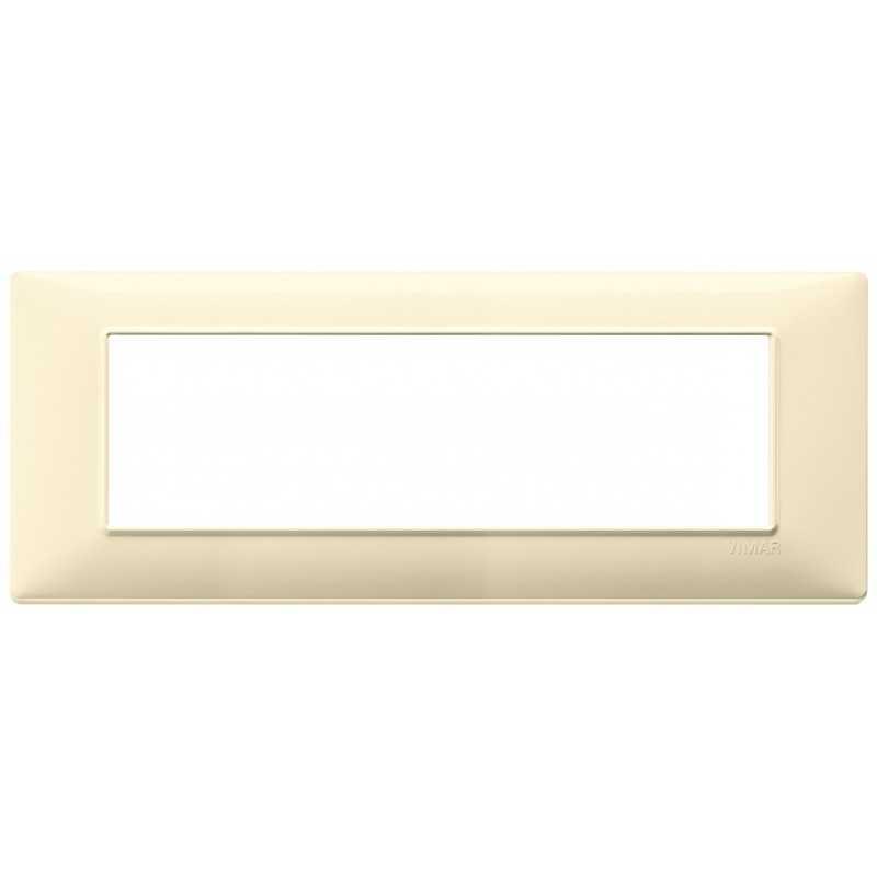 Placca Vimar Plana 7 moduli crema in tecnopolimero 14657.04
