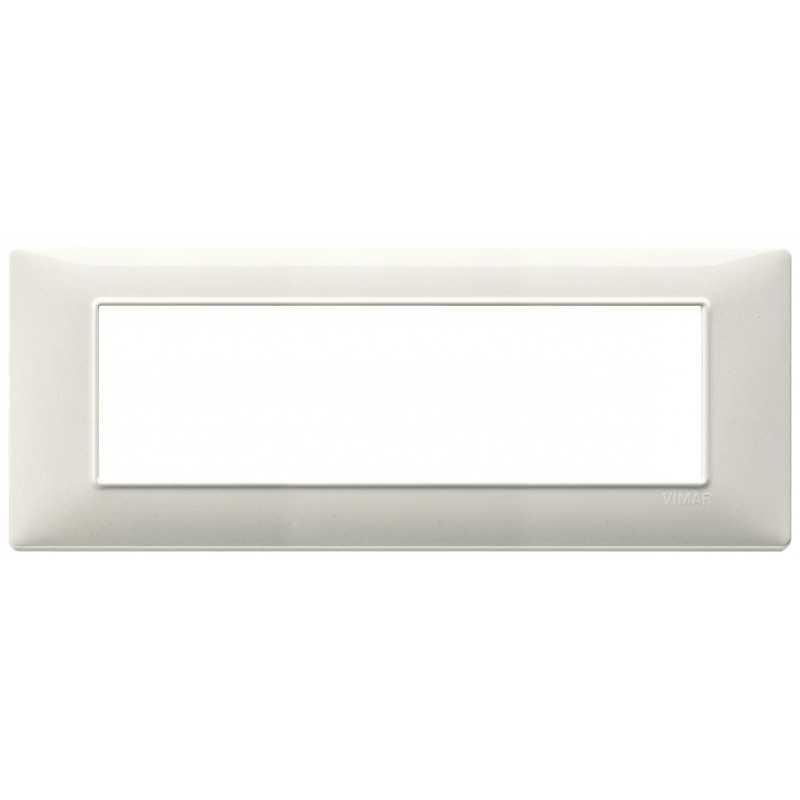 Placca Vimar Plana 7 moduli bianco granito in tecnopolimero 14657.06