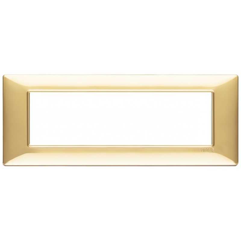 Placca Vimar Plana 7 moduli oro lucido in tecnopolimero 14657.24