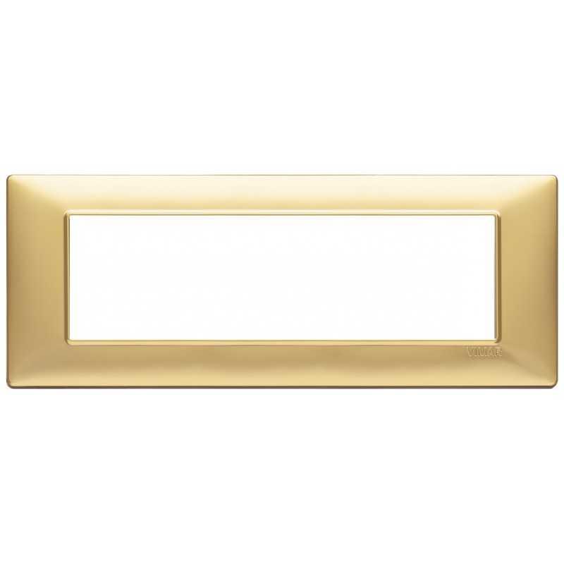Placca Vimar Plana 7 moduli oro opaco in tecnopolimero 14657.25
