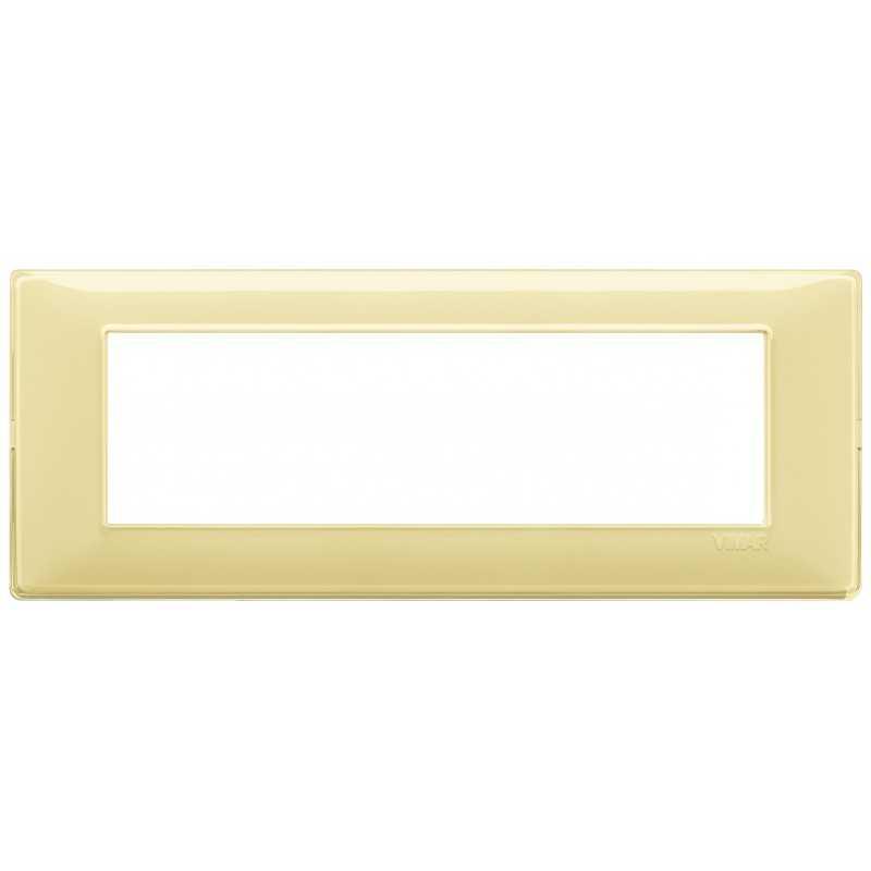 Placca Vimar Plana 7 moduli Reflex cedro in tecnopolimero 14657.46