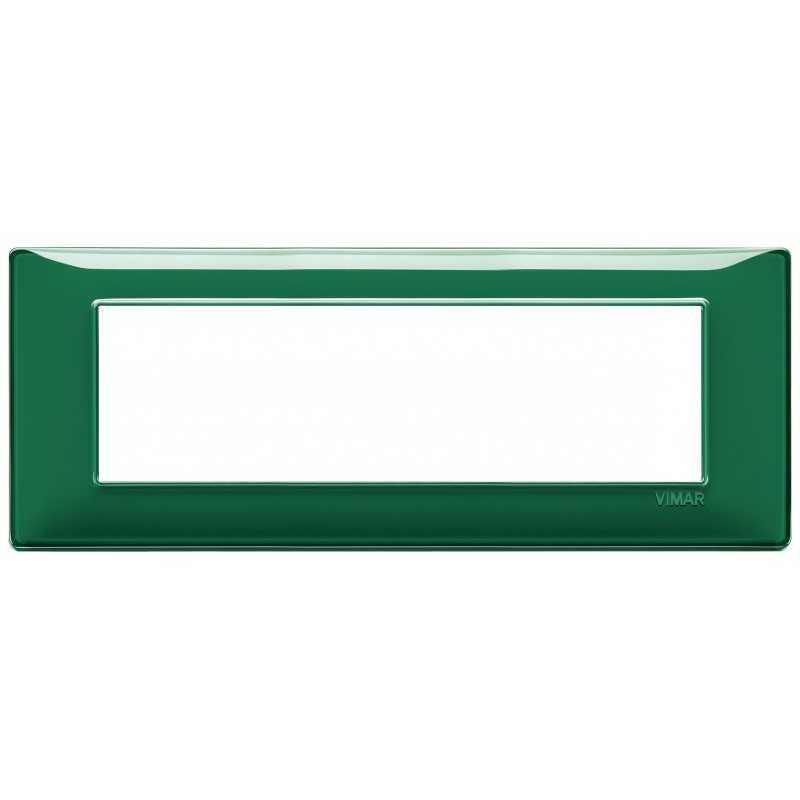 Placca Vimar Plana 7 moduli Reflex smeraldo in tecnopolimero 14657.47
