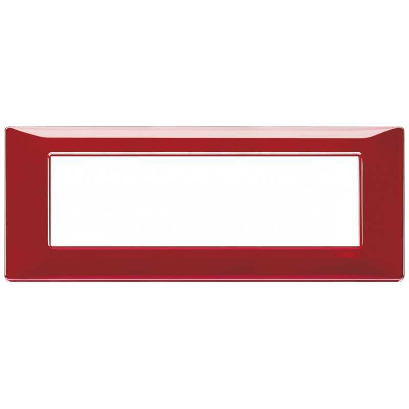 Placca Vimar Plana 7 moduli Reflex rubino in tecnopolimero 14657.51
