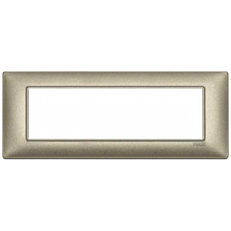 Placca Vimar Plana 7 moduli bronzo metallizzato 14657.70