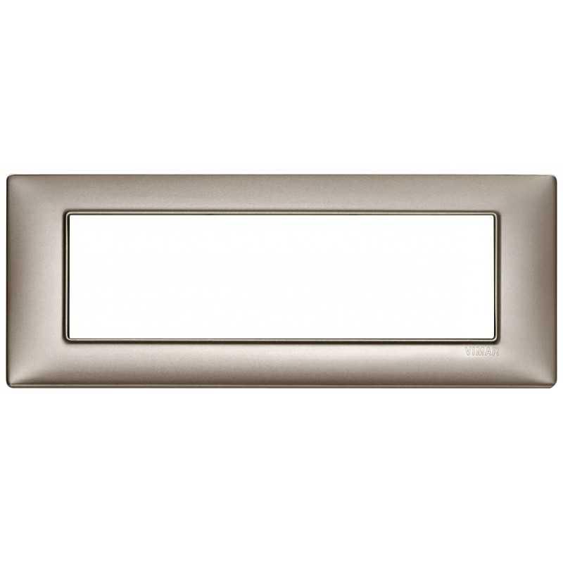 Placca Vimar Plana 7 moduli metallo nichel perlato 14657.74