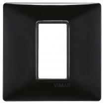 Placca Vimar Plana 1 modulo nero in tecnopolimero 14641.05