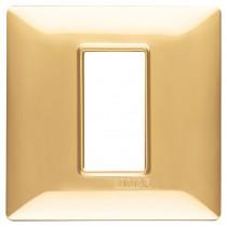 Placca Vimar Plana 1 moduli oro lucido in tecnopolimero 14641.24