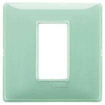 Placca Vimar Plana 1 modulo Reflex menta in tecnopolimero 14641.44