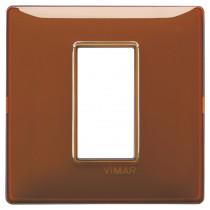 Placca Vimar Plana 1 modulo reflex tabacco in tecnopolimero 14641.49