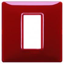 Placca Vimar Plana 1 modulo Reflex rubino in tecnopolimero 14641.51