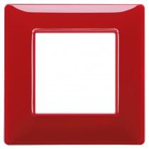 Placca Vimar Plana 2 posti, Reflex rubino in tecnopolimero 14642.51