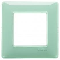 Placca Vimar Plana 2 moduli Reflex menta in tecnopolimero 14642.44