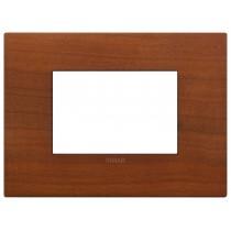 Placca Classic Vimar Arkè  3 moduli legno naturale ciliegio 19653.42