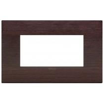 Placca Vimar Arkè  Classic 4 moduli wengè legno naturale 19654.41