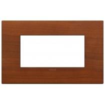 Placca Vimar Arkè Classic 4 moduli ciliegio legno naturale 19654.42
