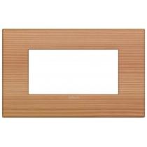 Placca Vimar Arkè Classic  4 moduli larice legno naturale 19654.43
