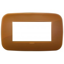 Placca Vimar Arkè Round 4 moduli Reflex caramel codice 19684.62