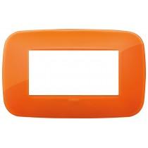 Placca Vimar Arkè Round 4 moduli Reflex orange codice 19684.63