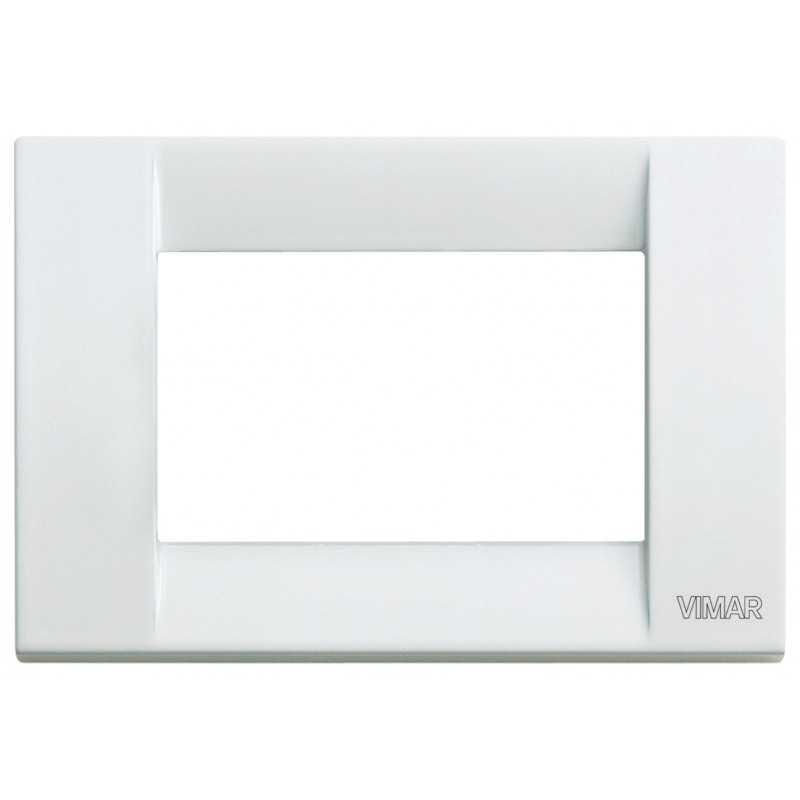 Placca Vimar Idea Classica 3 Moduli bianco in metallo 16733.01