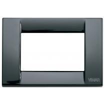 Placca Vimar Idea Classica 3 Moduli nero in metallo 16733.11