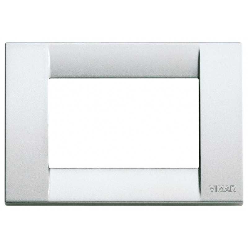 Placca Vimar Idea Classica 3 Moduli argento metallizzato 16733.21