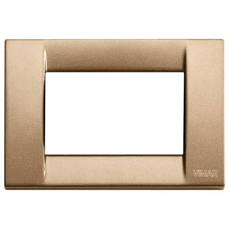Placca Vimar Idea Classica 3 Moduli bronzo metallizzato 16733.22