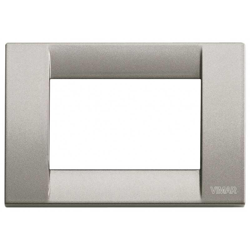 Placca Vimar Idea Classica 3 Moduli titanio metallizzato 16733.24
