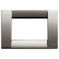 Placca Vimar Idea Classica 3 Moduli cromo nero metallo 16733.31