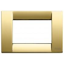 Placca Vimar Idea Classica 3 Moduli oro lucido metallo 16733.32