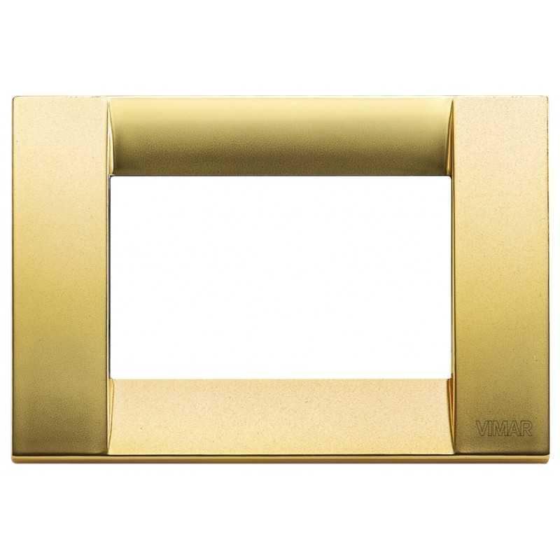 Placca Vimar Idea Classica 3 Moduli oro opaco metallo 16733.33