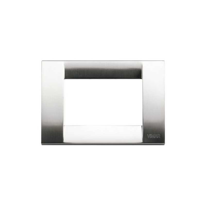 Placca Vimar Idea Classica 3 Moduli nichel spazzolato 16733.34