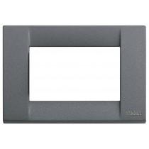 Placca Vimar Idea Classica 3 Moduli ardesia metallo 16733.46